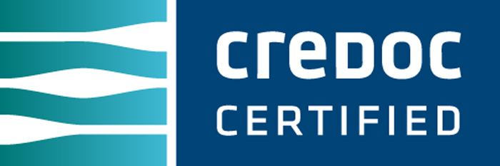 CREDOC certified