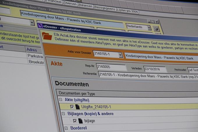 ActaLibra dossierbeheer eRegistration