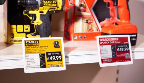 Étiquettes électroniques pour le secteur bricolage