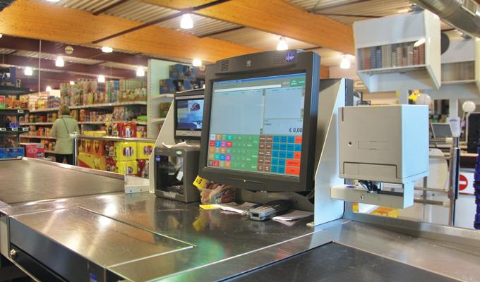 Supermarkt Heylen kassa