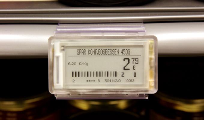 Spar Vlimmeren elektronische etiketten