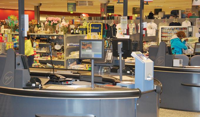 Speghelaere supermarkt kassa
